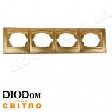 Рамка 4-я Сакура золото горизонтальная LMR1213 LEMANSO