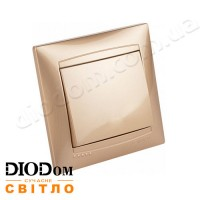 Выключатель врезной 1-й Сакура золото LMR1201 LEMANSO