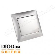 Выключатель врезной 1-й Сакура серебро LMR1301 LEMANSO